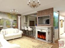 Фото дизайна интерьера трехкомнатной квартиры площадью 135 м.кв. в ЖК Красный Город-Сад, г.Ростов-на-Дону