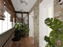 Фото интерьера балкона