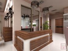 Фото дизайна интерьера салона красоты площадью 100м2 в ЖК Северная Звезда в г.Батайск