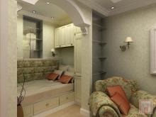 Фото спальной зоны в однокомнатной квартире