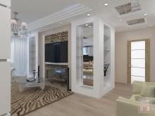 Фото дизайн-проекта интерьера четырехкомнатной квартиры площадью 115 м.кв. в ЖК Военвед-Сити, г.Ростов-на-Дону