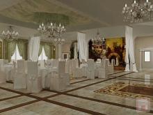 Фото дизайна интерьера ресторана «Витязь» в пос.Каменоломни, г.Шахты